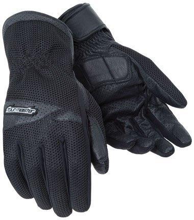 Tour Master Dri-mesh Men's Leather/textile Street Bike Racing Motorcycle Gloves - Black / X-large
