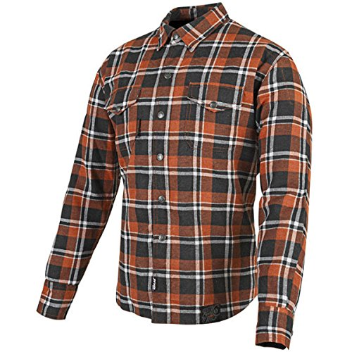 Speed and Strength Black Nine OrangeWhite Flannel Moto Jacket M
