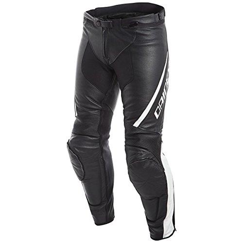Dainese Assen Mens Leather Motorcycle Pants BlackWhite 48 Euro33 USA