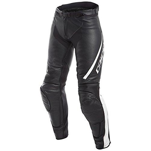 Dainese Assen Womens Leather Motorcycle Pants BlackWhite 50 Euro