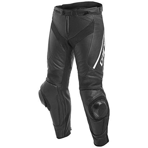 Dainese Delta 3 Mens Leather Motorcycle Pants BlackBlackWhite 48 Euro33 USA