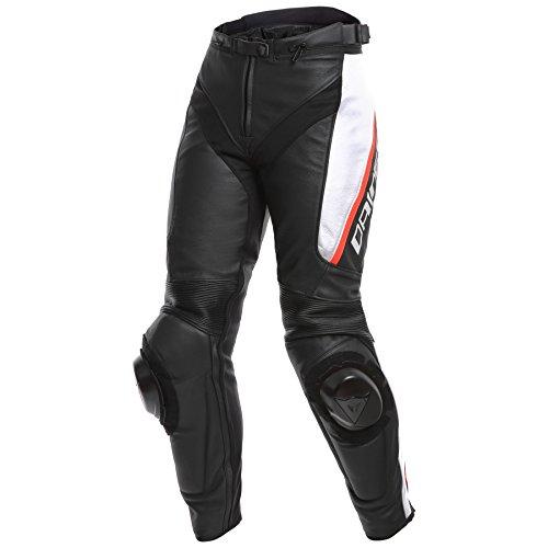 Dainese Delta 3 Womens Leather Motorcycle Pants BlackWhiteRed 46 Euro