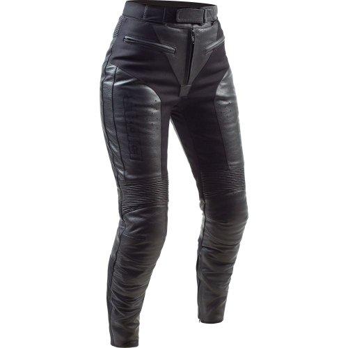 SEDICI Womens Mona Leather Motorcycle Pants - 10 Black
