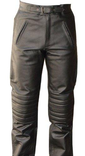 V-Pilot Style Motorcycle Leather Pants-34