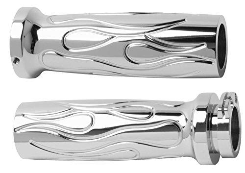 Arlen Ness Chrome Flamed Grips