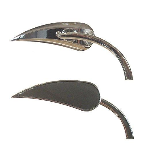 Arlen Ness Chrome Micro Mini RAD II Teardrop Mirrors for Harley-Davidson - 13-410 13-411