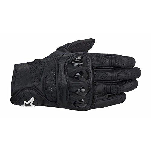 Alpinestars Celer Mens Leather Street Racing Motorcycle Gloves - Black  X-Large