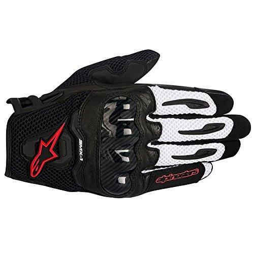 Alpinestars SMX-1 Air Mens Motorcycle Gloves - BlackWhiteRed - Large