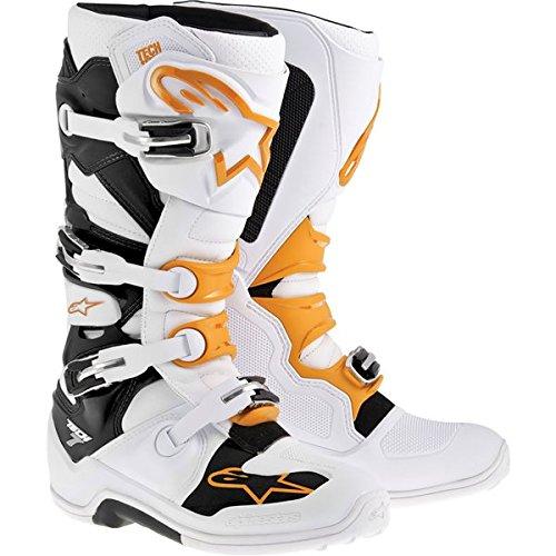 Alpinestars Tech 7 Mens Motocross Motorcycle Boots - Orange  Size 12