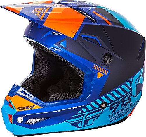 Fly Racing Unisex-Adult Full-Face-Helmet-Style Elite Helmet Matte BlueOrange Large