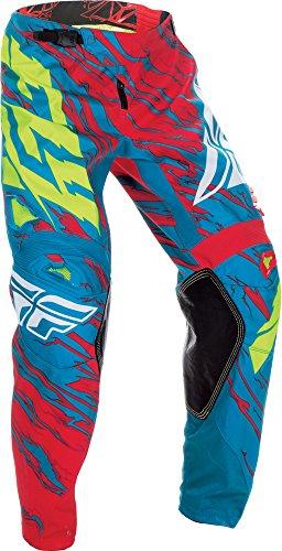 Fly Racing Unisex-Adult Kinetic Relapse Pants TealRed Size 38