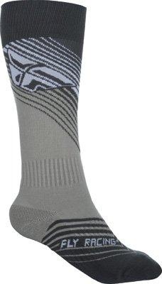 Fly Racing Unisex-Adult Mix Socks Thin BlackWhite LargeX-Large