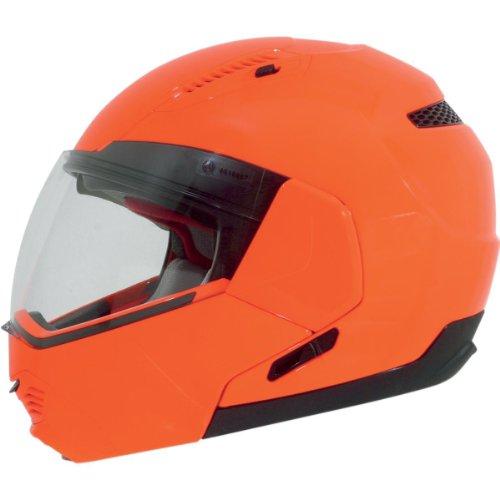 Afx Solid Adult Fx-140 Modular Sports Bike Motorcycle Helmet - Safety Orange / Large