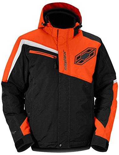 Castle X Phase Mens Snowmobile Jacket Orange LG