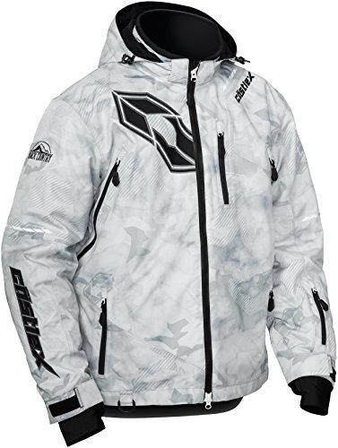 Castle X Stance Back Country Mens Snowmobile Jacket - Alpha GrayBlack LRG