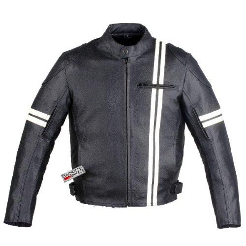 Iron Biker Motorcyle New Leather Armor Jacket Black L