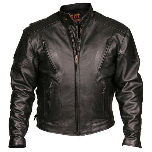 Leather Motorcycle Jacket (black, Size 50)