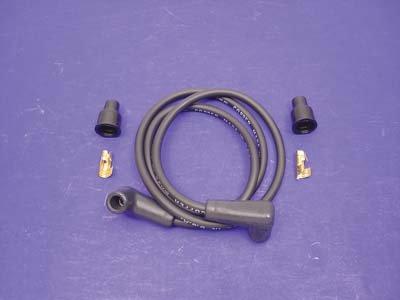 V-Twin 32-0696 - Black Copper Core 7mm Spark Plug Wire Kit