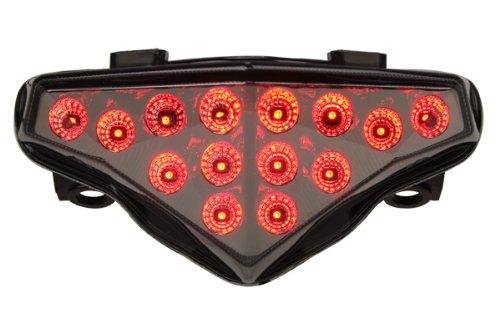 2012-2016 Kawasaki Ninja 650 Integrated Sequential LED Tail Lights Smoke Lens