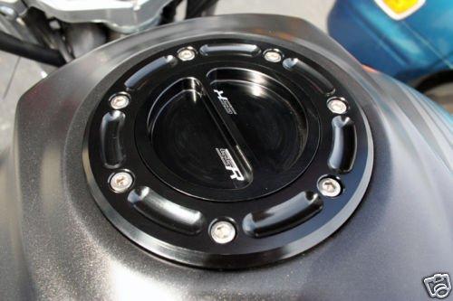 Black Cnc Kawasaki Gas Fuel Cap Ninja 500 500r Ex500 ZRX1100 ZX9RB ZX9RC