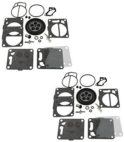 2 Pack of Premium Venom Brand SBN Mikuni Carb Carburetor Kit Fits 1996-2011 Kawasaki Stand-Up JetSki Jet-Ski 750 SXi  Pro 800 SXR SX-R