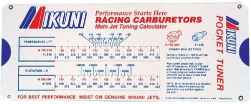 Mikuni Carburetor Jet Pocket Tuner Sliding Calculator
