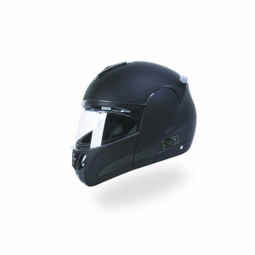 TORC T22B Interstate Modular Helmet with Blinc 20 Stereo Bluetooth Technology Flat Black X-Small