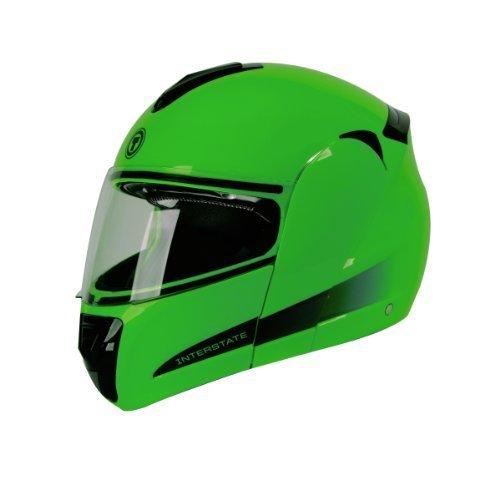 TORC T22B Interstate Modular Helmet with Blinc 20 Stereo Bluetooth Technology Green X-Small