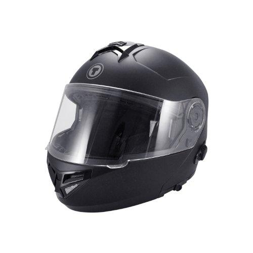 TORC T27 Full Face Modular Helmet with Integrated Blinc Bluetooth Flat Black X-Large