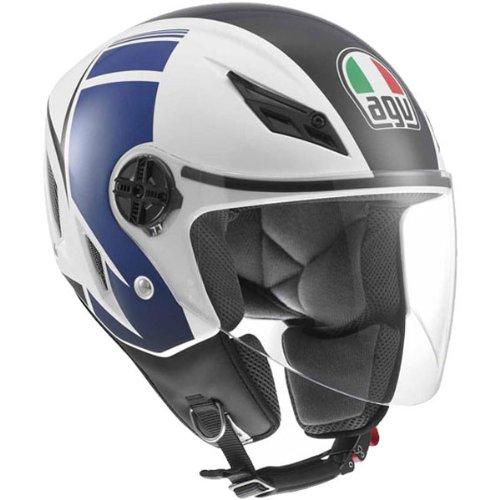 Agv Blade Fx Open Face Helmet White Blue M/medium