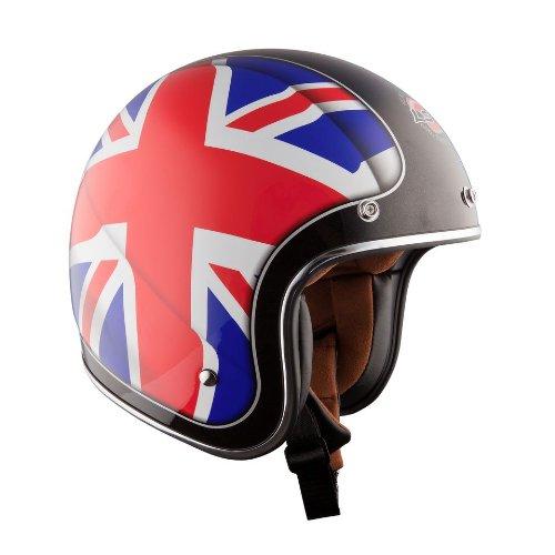 Ls2 Of583 Union Open Face Helmet (red/white/blue, Medium)