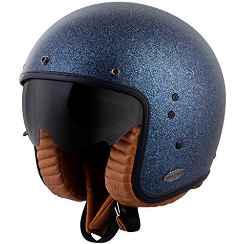 Scorpionexo Belfast 3/4 Open Face Helmet (matte Metallic Blue, Large)