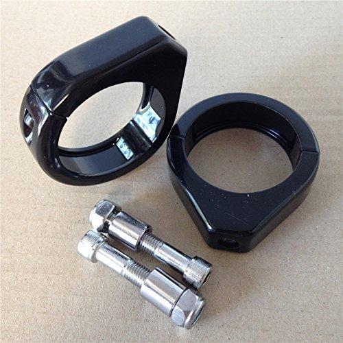 HTT- Motorcycle Turn Signal Indicator Relocation Fork Clamp Kit for Harley Softail Mount Bracket 41mm Fork Black