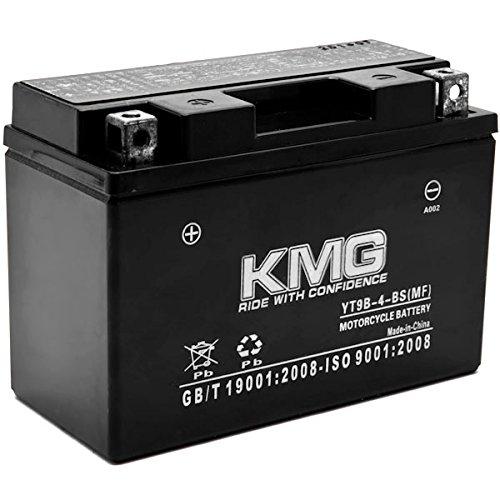 KMG YT9B-4-BS Battery For Yamaha 400 YP400 Majesty 2004-2012 Sealed Maintenace Free 12V Battery High Performance SMF OEM Replacement Maintenance Free Powersport Motorcycle ATV Snowmobile Watercraft