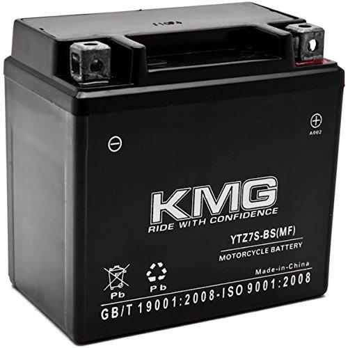 KMG YTZ7S Battery For Yamaha 250 YFM25R Raptor R 2008-2012 Sealed Maintenace Free 12V Battery High Performance SMF OEM Replacement Maintenance Free Powersport Motorcycle ATV Scooter Watercraft KMG