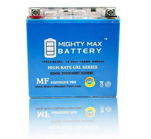 YTX14-BS GEL 12V 12AH Battery for Honda ATV FourTrax TRX 300 350 450 - Mighty Max Battery brand product