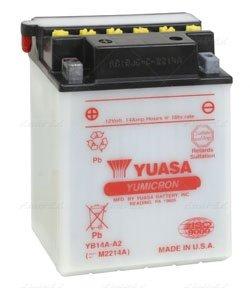 Yuasa YB14A-A2 YuMicron Battery for 1999-2004 Yamaha YFM250 Bear Tracker ATV