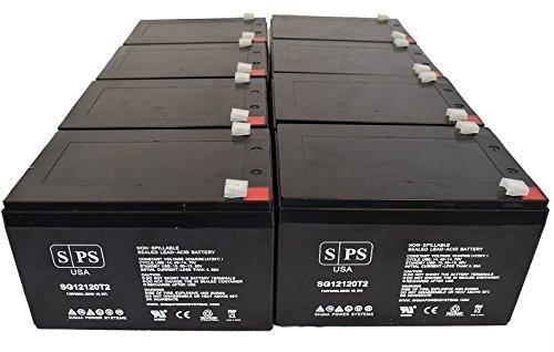 Replacement Battery Razor 15128190 MX500 MX 500 Dirt Rocket 12V 12Ah Scooter Battery SPS Brand  - 8 Pack