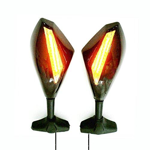 Yibid Integrated Motorcycle LED Turn Signal Light Custom Mirrors for Suzuki GSXR 1000 2001-2005 2009-2012 GSXR 1100 1993-1998 Solid Black Smoke Lens