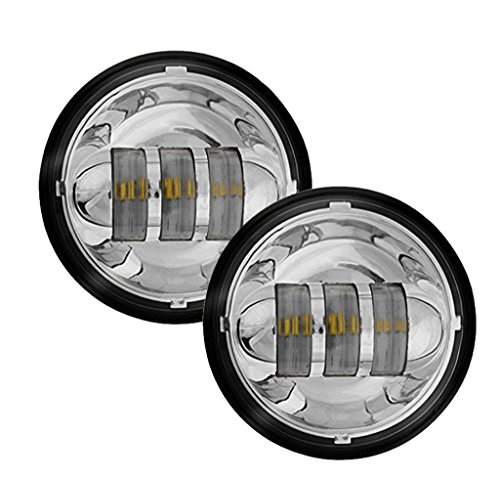 Eagle Lights 8700P 45 LED Passing Lamp Kit for Harley Davidson and Others Chrome