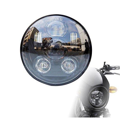 Lantsun 575inch Round LED Projector Black Daymaker Headlight for Harley Dyna Sportster 1 Piece J232-B