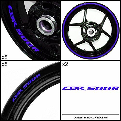 Stickman Vinyls Honda CBR 500R Motorcycle Decal Sticker Package Gloss Blue Graphic Kit