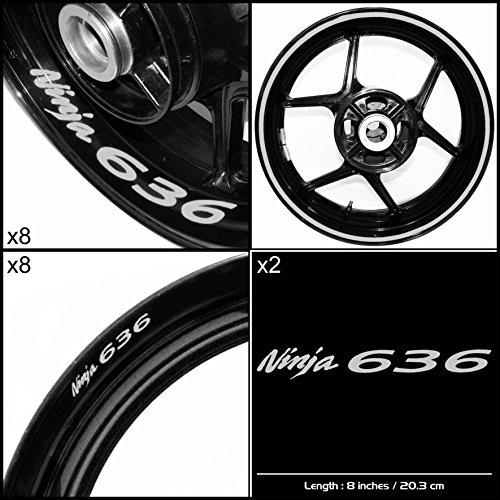 Stickman Vinyls Kawasaki Ninja 636 Motorcycle Decal Sticker Package Reflective Silver Graphic Kit