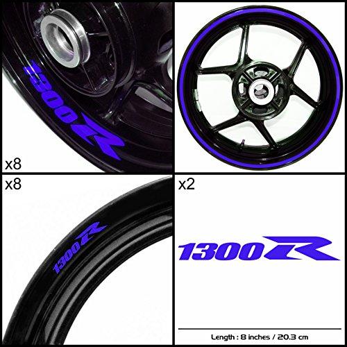 Stickman Vinyls Suzuki Hayabusa 1300R Motorcycle Decal Sticker Package Gloss Blue Graphic Kit