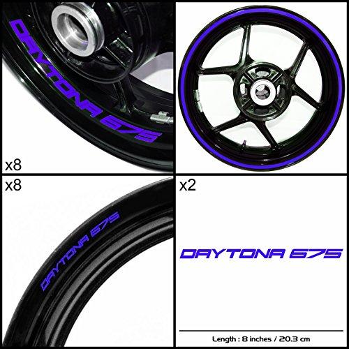 Stickman Vinyls Triumph Daytona 675 Motorcycle Decal Sticker Package Reflective Blue Graphic Kit