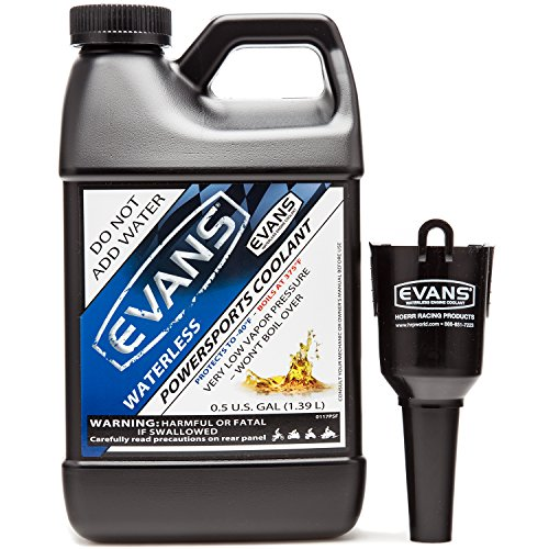 Evans Coolant EC72064 Powersports Waterless Engine Coolant with Funnel 64 fl oz