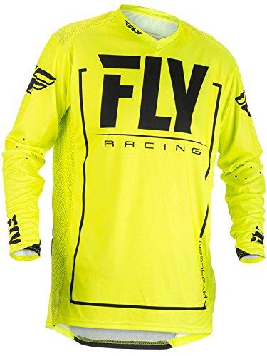 Fly Racing Hi-Vis-Black 2018 Lite Hydrogen Mx Jersey S  Yellow