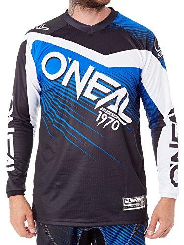 Oneal Black-Blue 2018 Element Racewear Mx Jersey Xl  Blue