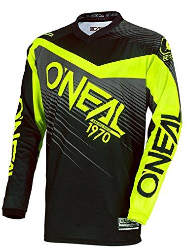 Oneal Black-Hi Viz 2018 Element Racewear Mx Jersey L  Black