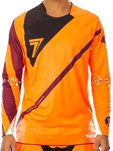 Seven Mx Fluorescent Orange-Black 2016 Rival Fuse Mx Jersey S  Orange